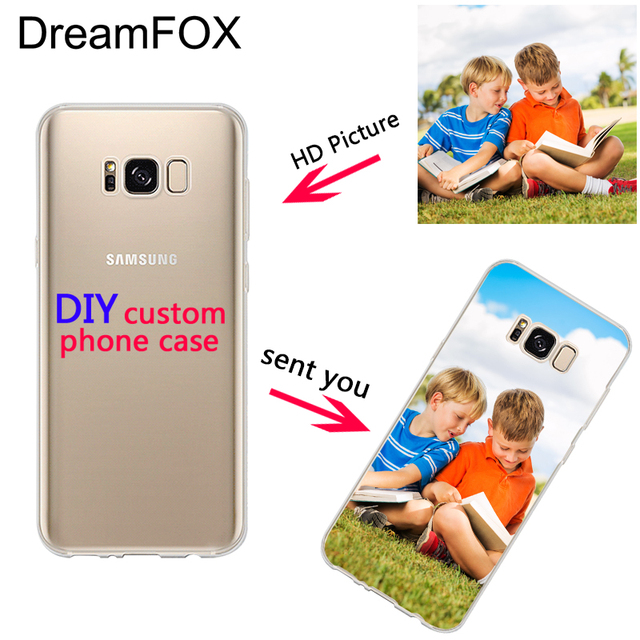 dreamfox custom diy print photo soft tpu phone case for samsung