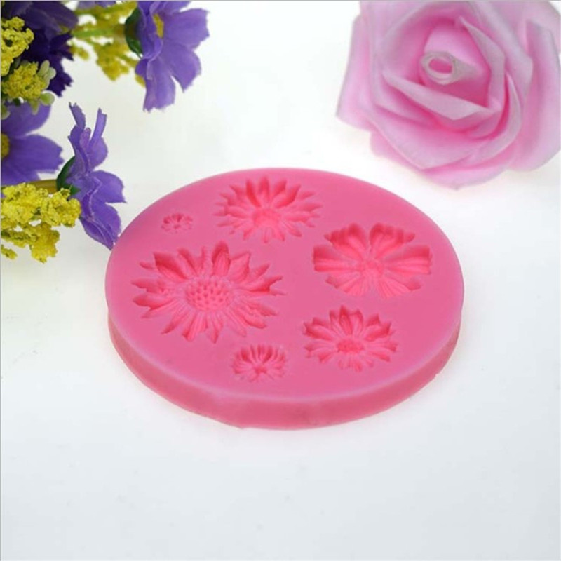 TTLIFE 3D Flower Silicone Molds Fondant Cake Candy Chocolate Sugarcraft Ice Pastry Baking Tool Mould Soap Decorator Mold Craft in Cake Molds from Home Garden
