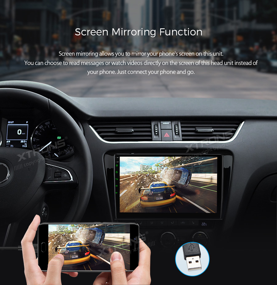 """Top 10.1"""" Android 8.1 OS Car Multimedia Navigation GPS Radio for Skoda Octavia 2014 2015 2016 with Split Screen Function Support 13"""