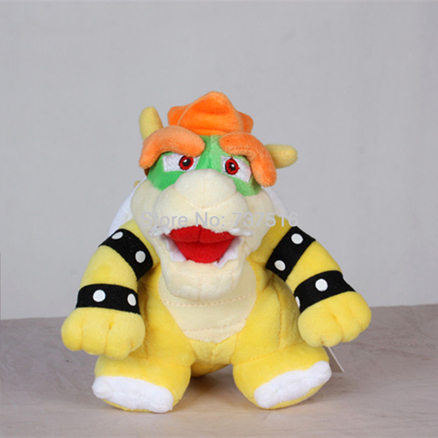 Super Mario Bros 17cm Koopa Bowser Plush Toy Standing Open Mouth Funny Mini Stuffed Doll Figure Gift 6.5 Inch