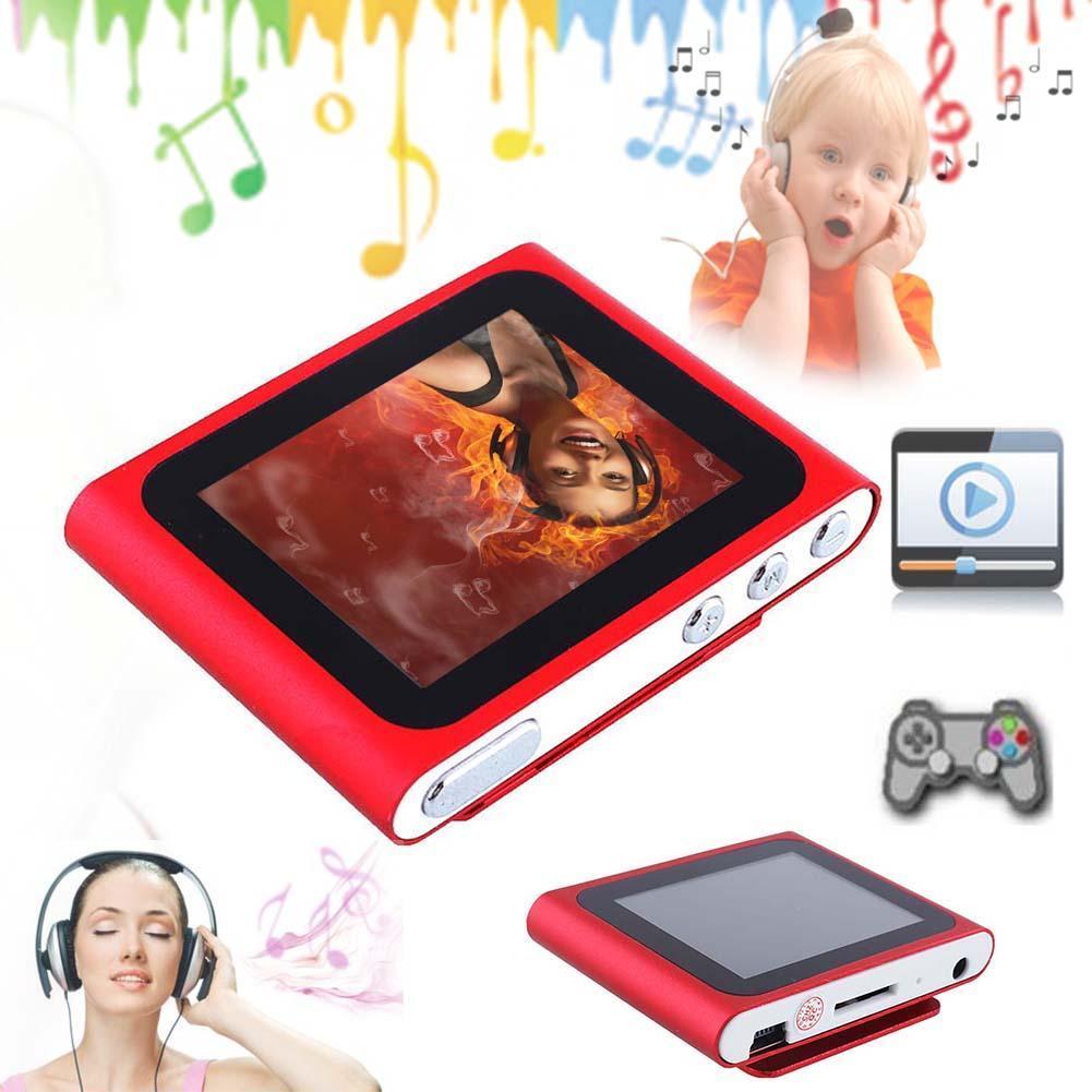Fashion Portable LCD 1.8 Inch Screen Display MP4 6th Generation Music Media Video Movie FM Radio Gift for Women
