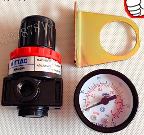 Air Control Compressor Pressure Gauge Regulating Regulator Valve AR2000 Air Gauge Air Adjust Valve Regulator Valve