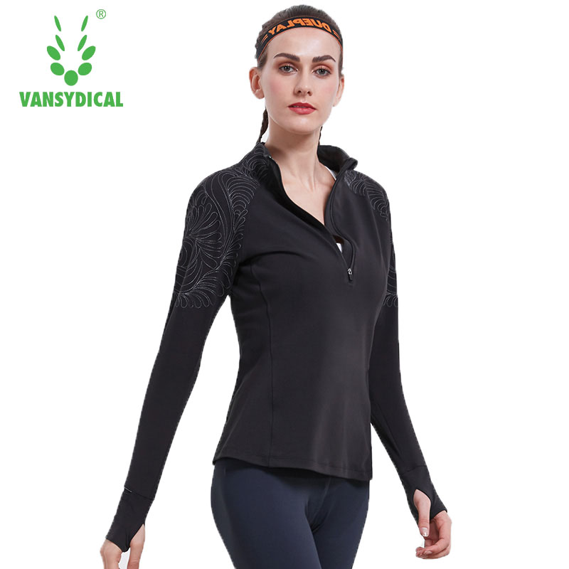 Vansydical Brand Women   Basic     Jackets   Female Half Zipper Casual Long Sleeves Coats Autumn   Jacket   Slim Windbreaker   Jacket