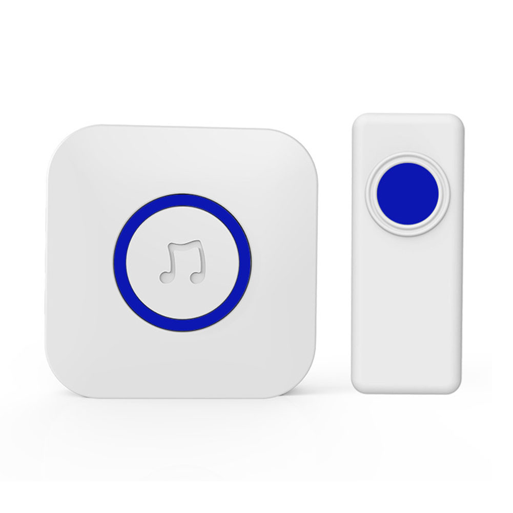 Transmitter Waterproof Home 52 Chimes Music Wireless Doorbell Set Receiver Remote Twin Plug-in Easy Install Portable Push ButtonTransmitter Waterproof Home 52 Chimes Music Wireless Doorbell Set Receiver Remote Twin Plug-in Easy Install Portable Push Button