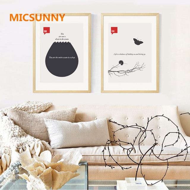 MICSUNNY Modern Nordic Canvas Poster Minimalism Frameless Home Decoration Magazine Cover Print Painting For Living Room