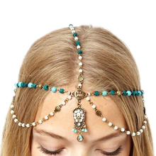 Women's Metal Rhinestone Hair Chain Jewelry Bohemian Headband Head Piece Hairband 5U93 6SUT 7ES4 7RDE