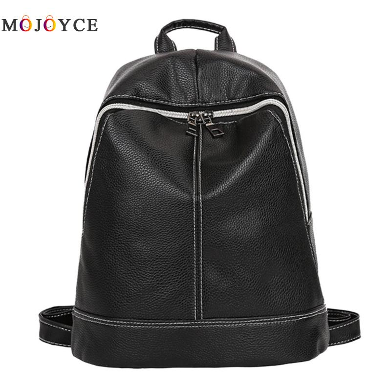 High Quality Soft PU Leather Women Backpack Teenager Girls Solid Color Travel School Daily Back pack High Quality Soft PU Leather Women Backpack Teenager Girls Solid Color Travel School Daily Back pack