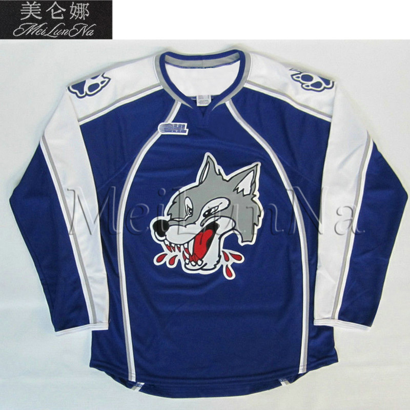 MeiLunNa Custom OHL Sudbury Wolves Jerseys 14 Marc Staal 67 Benoit Pouliot 15 Dale Hunter 10 Ron Duguay Sewn On Any Name NO.