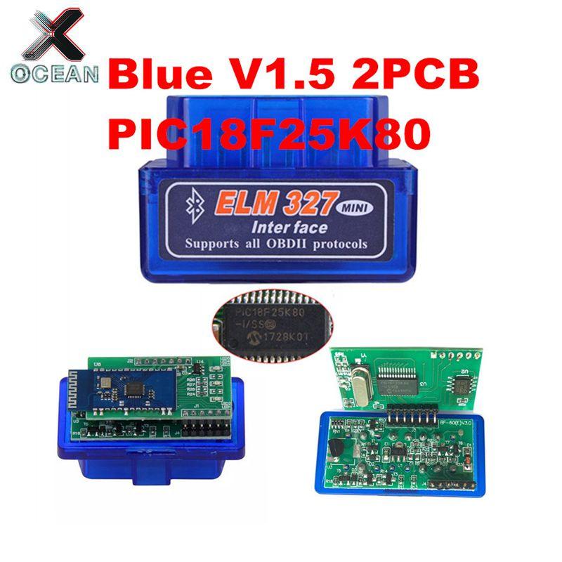 OCEAN 2PCB PIC18F25K80 Firmware 1 5 ELM327 V1 5 OBD2 Bluetooth Diagnostic Interface ELM 327 V1 5 Hardware Support More Car