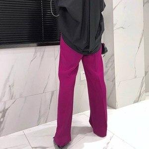 Image 4 - Twotwinstyleズボン女性のハイウエスト因果ルースワイド脚パンツ女性2020秋の韓国のファッションエレガントな潮