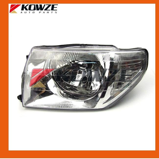 2PCS Head Lamp Light Headlamp For Mitsubishi Pajero Pinin Montero IO H66 H67 H76 H77 MR964897 MR964898 MR414927 MR414928