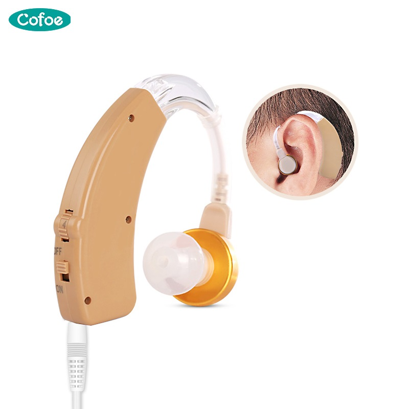 Cofoe Mini Behind the Ear Hearing Aids BTE Adjustable Hearing Aid Rechargeable Sound Amplifier Device for