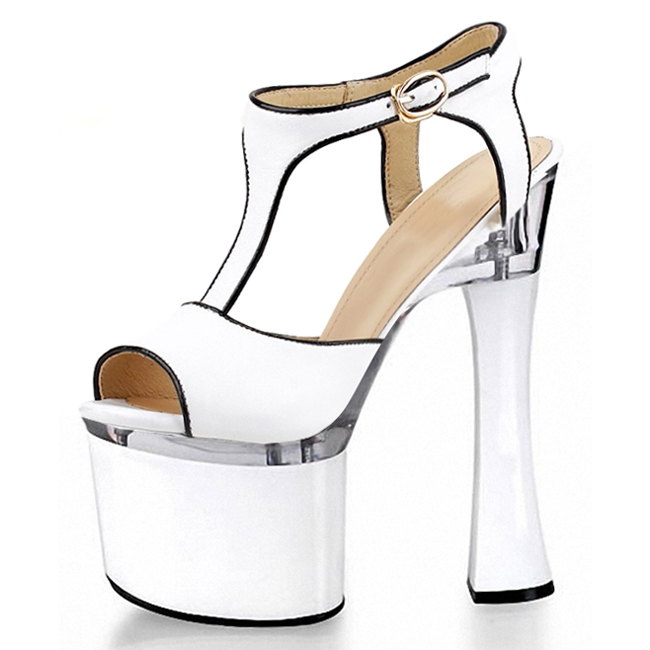 18 cm super high heels with model with dress shoes Shoe heels on sale stage performance Recommend sell like hot cakes emphasis has been placed on the appeal of shoes pu sandals 15 cm super stilettos model stage photos of shoes