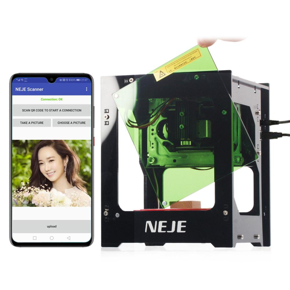 NEJE DK   8   KZ 3000mW 445nm Blu Ray AI Smart Painting DIY USB High Power CNC Laser Cutter Engraving Machine 3D Engraver-in Carbon Dioxide Lasers from Tools    1