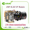 H.265 New 4MP 2592*1520 IP Network Camera PTZ module X4 zoom 2.8-12mm motorized Lens with RS485
