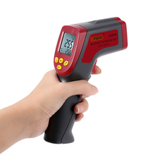 UYIGAO Handheld Temperature Tester Pyrometer -50~950C Digital Infrared IR Thermometer 12:1 with Backlight Adjustable Emissivity fit dh 950c