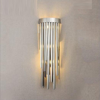 high quality wall lamp modern silver wall sconce lights AC110V 220V hallway lighting