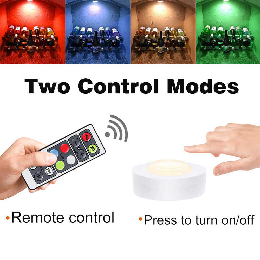 캐비닛 조명 아래 16 색 무선 컨트롤러와 led 디 밍이 가능한 밤 빛 옷장 램프 배터리 침실 조명에 대 한 전원