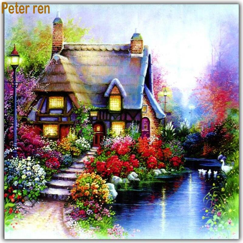 Villa Garden Diamond painting Diy embroidery  full square rhinestone Mosaic Arts and crafts needlework scenery