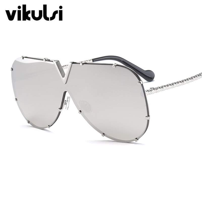 9cd91232e0 New Italy Brand Eyeglass Oversize Rivet Aviator Sunglasses Women Men  Fashion Luxury Frame Mirror Sun glasses Female Male Oculos-in Sunglasses  from Apparel ...