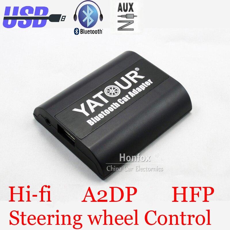 Yatour Bluetooth Car Adapter For 12pin Audi A3 A4 S4 R8 TT 2007-2010 YT-BTA AUX IN HI-FI A2DP USB charging port