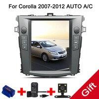 10,4 Тесла Android 7,1 Fit TOYOTA Corolla 2007 2012 Авто/C dvd плеер навигационная gps радио