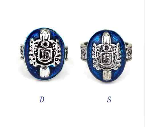 Movie Vampire Diaries Damon/Stefan Salvatore Sun Family Crest Rings Vintage vampire diaries jewelry Size 6-10