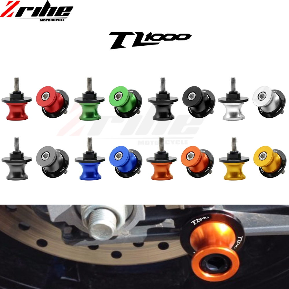 8mm Motorcycle Swingarm Sliders Spools Swingarm Stand Screws Slider For SUZUKI TL1000S / TL1000R All Year TL1000 R S TL 1000 R S