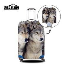 Kühlen Tier koffer schutzhülle anti-scratch gepäck abdeckung wolf muster wasserdichte schutzhülle für koffer für 18-30 zoll