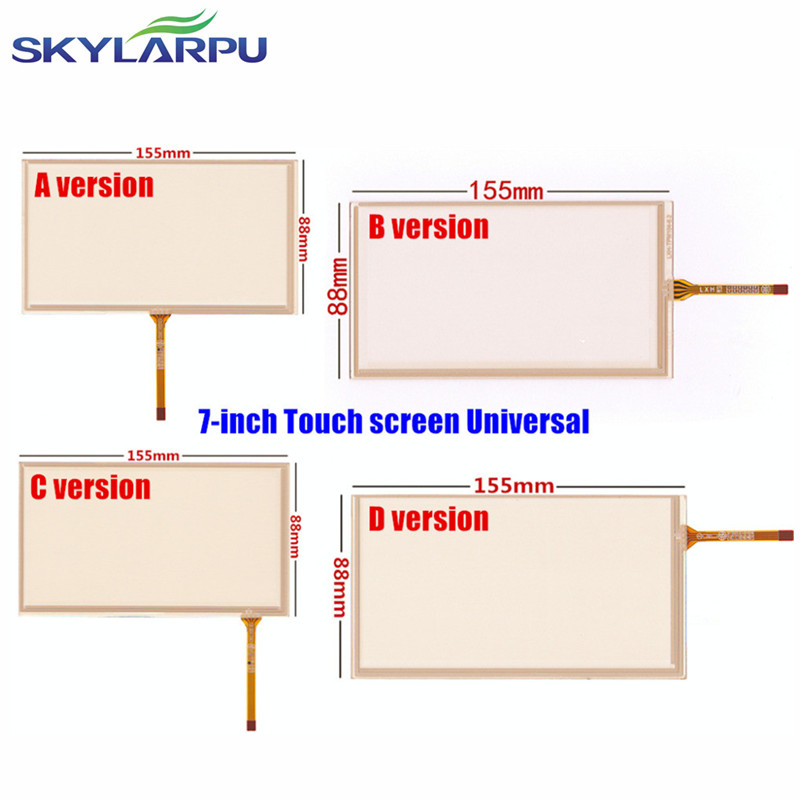 skylarpu 6.2 inch 155mm*88mm 4 wire Resistive Touch for HSD062IDW1-A00 Car DVD navigation Touch screen digitizer panels free shipping 5pcs si4409 ao4409 4409 in stock