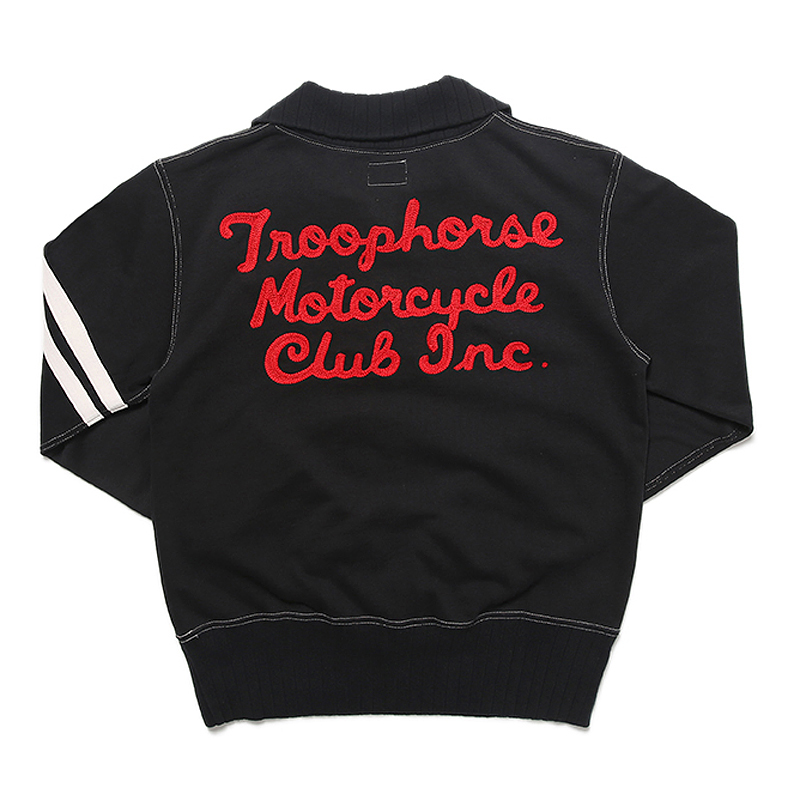 TroopHorse MC التطريز البلوز خمر قصيرة السترة دراجة نارية سترة أعلى مقهى المتسابق سباق جيرسي للرجال-في قمصان وسترات بقلنسوة من ملابس الرجال على  مجموعة 2