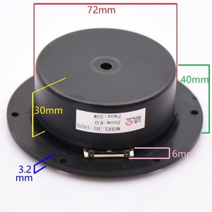 Image 3 - HIFIDIY LIVE hifi 4 inch  Tweeter Speaker Unit black Silk membrane 8 OHM 30W plastic 102mm Treble Loudspeaker B1 102S 4 film