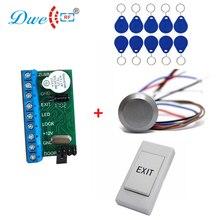 Mini rfid standalone controller met rf id wateproof reader exit met 10 pcs tk4100 key tags