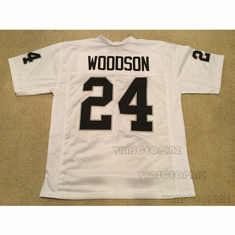 Mens Charles Woodson Stitched Name Number Throwback font b Football b font Jerseys UNSIGNED NO LOGOS