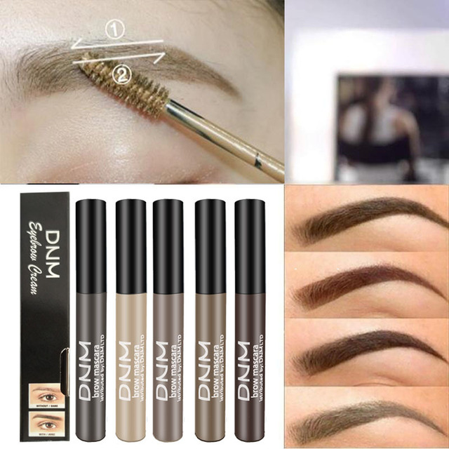 Waterproof Long Lasting Henna Eyebrow Gel Paint 5 Color Natural Black Brown Brow Enhancers Liquid Eyebrow Tint Makeup Cheap 2019