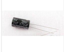100 PCS 470 uF / 25 V 8 * 12 mm DIP 25 V 470 uF Capacitor eletrolitico de aluminio 470uF25V 100 pcs lot cbb capacitor 630 v473 473 k 473 v 47 nf feet from 10 mm cbb22 film capacitor