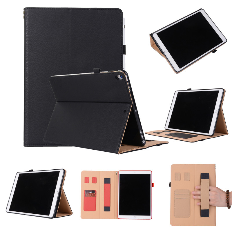 For Apple iPad Pro 10.5 Leather Case Flip Smart Cover Tablet Book Case for iPad Pro 10.5 Stand with Card Slots Pencil Holder new luxury tablet case cover for apple ipad air 2 pu leather flip case wallet card stand cover for ipad 6 ipad air2 with holder