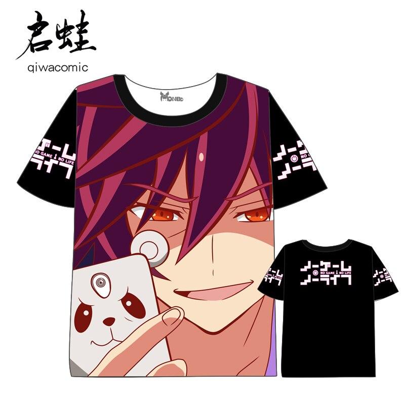 Anime No Game No Life T-shirt Men Women Short Sleeve Summer dress t shirt