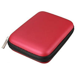 """Лидер продаж Портативный жесткий диск противоударный чехол сумка на молнии чехол 2,5 """"HDD сумка Красный"""