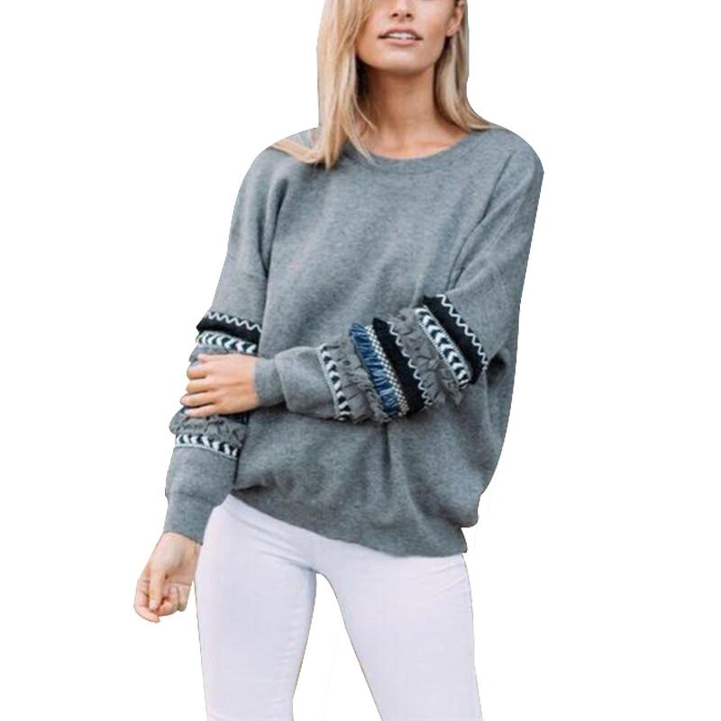 Tassel Long Sleeve Sweatshirt Women 2018 Autumn Winter Pullo