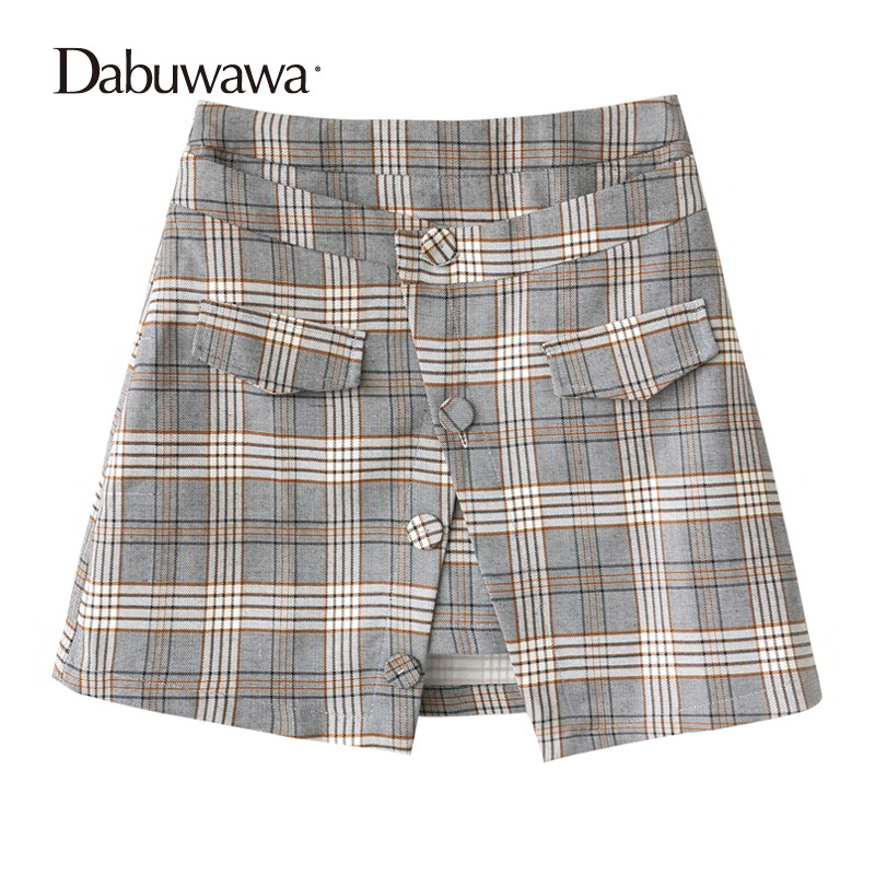 Dabuwawa Autumn Women Fashion Sexy Plaid Skirt Elegant Mini Pleated Skirt Short Streetwear Asymmetrical Skirt #D17CSK031 dabuwawa autumn women fashion sexy plaid skirt elegant mini pleated skirt short streetwear asymmetrical skirt d17csk031 page 2
