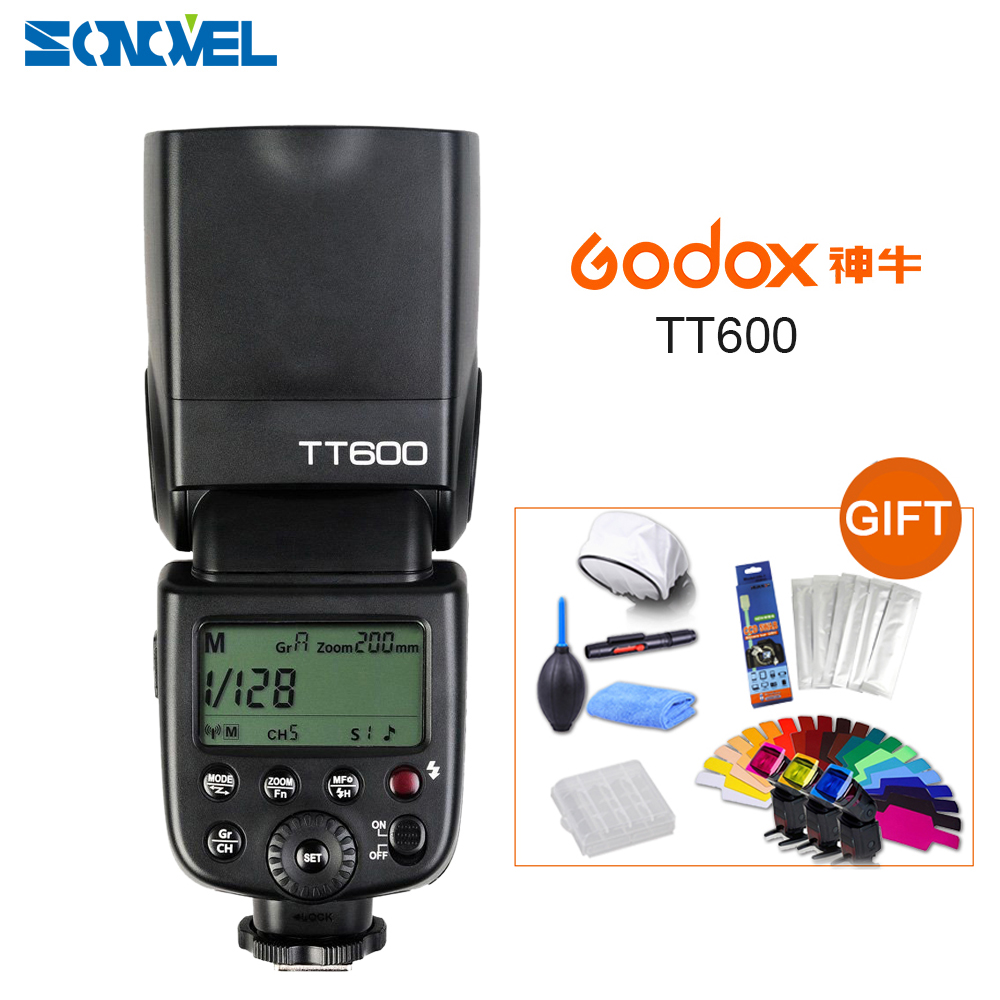 Godox TT600 2.4G Wireless X system LCD Panel GN60 Master/Slave Camera Flash Speedlite for Canon Nikon Pentax Olympus Fujifilm цена