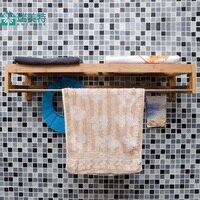 Руи США Специальный японский бамбуковые стены полка ванной ванная полотенца стойки вешалки вход стены