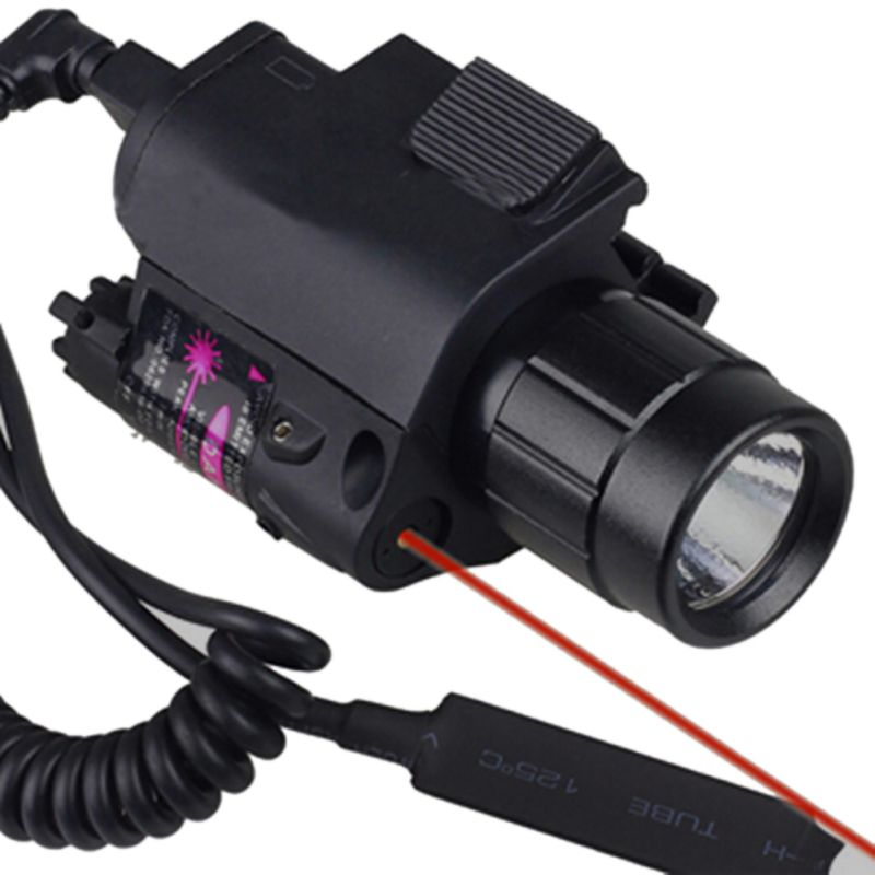 Caza láser 2 en 1 profesional infrarrojo + linterna Vista de caza nocturna al aire libre con visión infrarroja de caza extendida