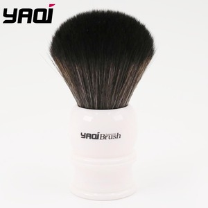 Image 1 - Yaqi 30 ミリメートルサイズノット白ハンドル黒人工毛シェービングブラシ