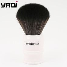 Yaqi 30mm Size Knot White Handle Black Synthetic Hair Shave Brush