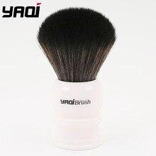 Yaqi 30mm גודל קשר לבן ידית שחור סינטטי שיער גילוח מברשת