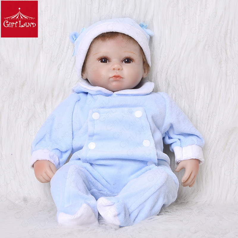 Reborn Baby Doll Bebe Reborn Brown-Eye Angel Princess With Blue Baby Suit Warm Coat For Baby Reborn Girl Soft Body Safe MaterialReborn Baby Doll Bebe Reborn Brown-Eye Angel Princess With Blue Baby Suit Warm Coat For Baby Reborn Girl Soft Body Safe Material