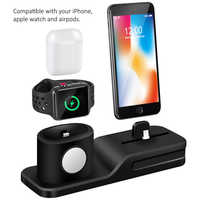 3 in 1 Charging Dock Charger for xiaomi   samsung huawei Charging Dock Silicone Docking Station for Apple Watch Airpods