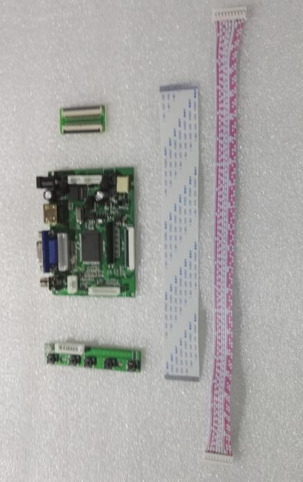 Universal HDMI VGA 2AV 50P TTL LVDS Controller Board Module Monitor Kit for Raspberry PI LCD 7INCH 50PIN 1024*600 Panel freeship